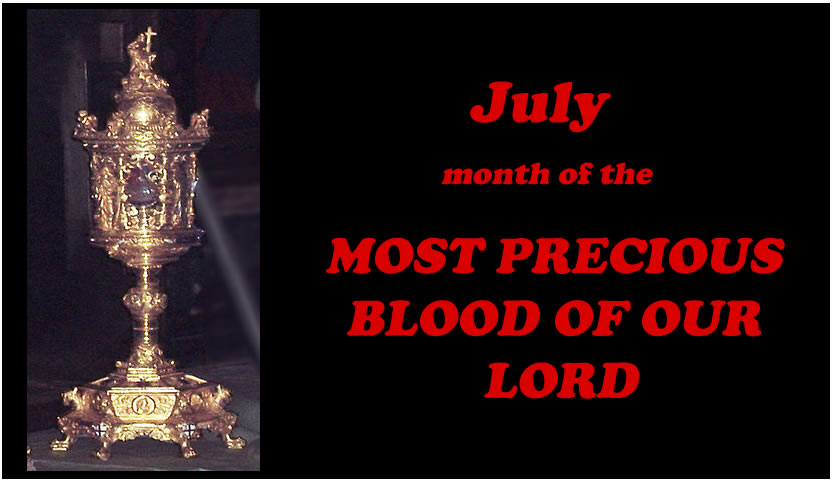 July - Month of the Most Precious Blood
